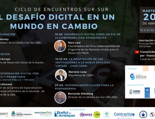 Ciclo de encuentros – El desafío digital en un mundo en cambio